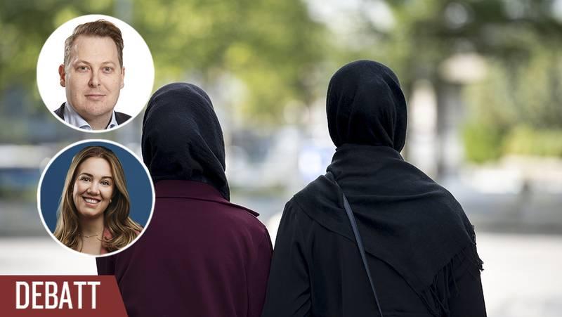 Kvinnor med hijab.