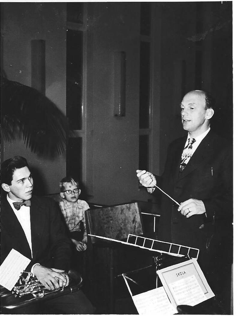 Lars-Inge Rosén och Birger Burman 1957.