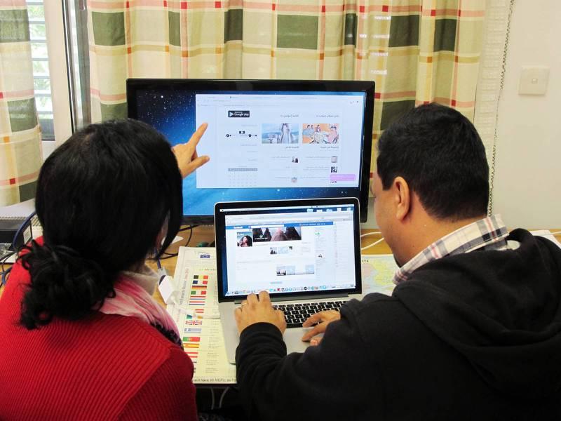 Ibra jobbar mycket med sociala medier i Mellanöstern. Man har bland annat ett konto för Libyen med 150000 följare.