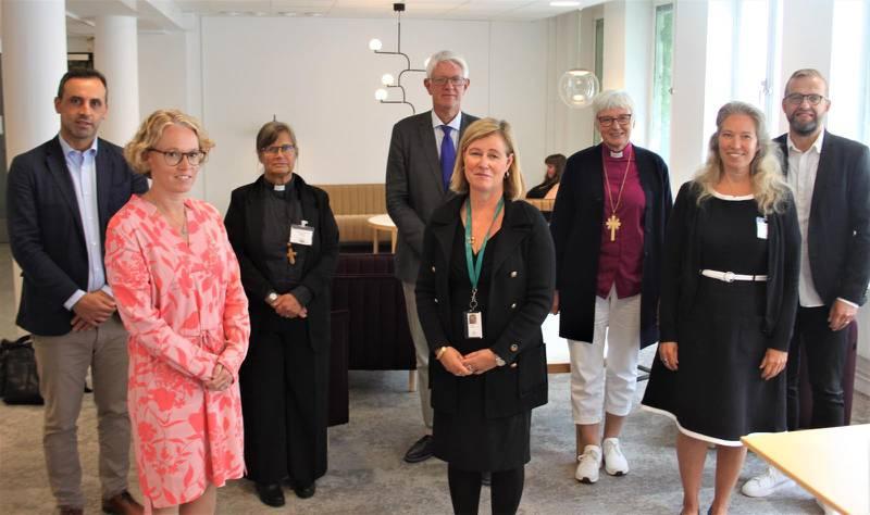 Svenska kyrkans råd mötte Folkhälsomyndigheten under måndagen.