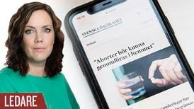 Abort hemma ett svek mot kvinnan