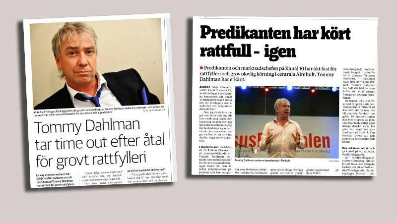 Publicering i Dagen 19/1-2016, och Smålandsposten 28/6-2019.