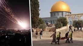 Raketattacker och flygangrepp i upptrappad Israel-konflikt