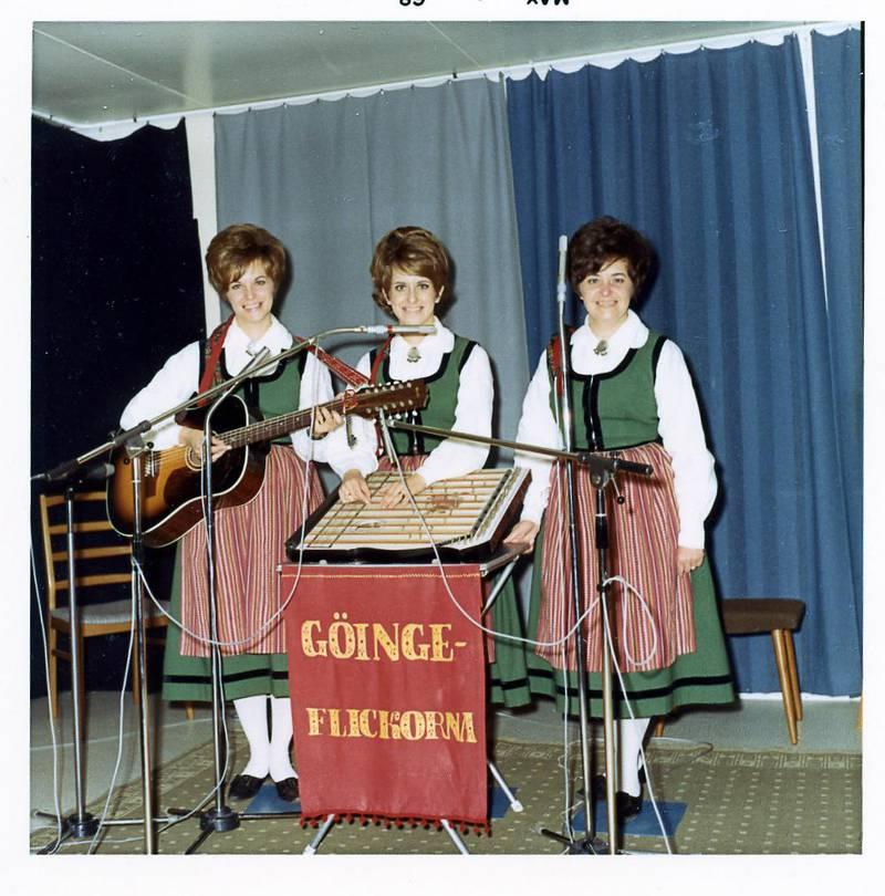 Göingeflickorna i Falks Studio 1968.