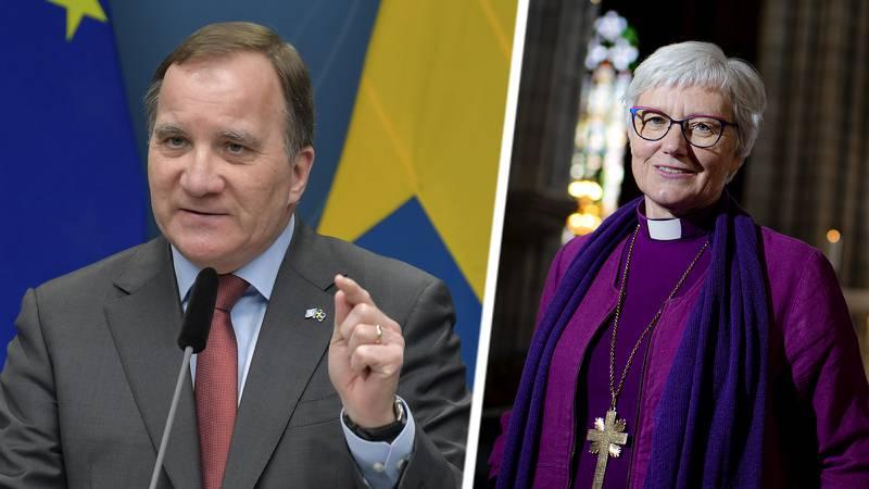 Stefan Löfven säger att han förstår och stödjer ärkebiskopens beslut att ta paus från Twitter.