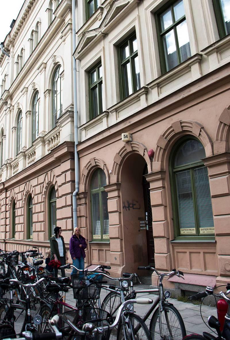 """""""Kollektivet"""" finns i samma hus som Uppsala baptistförsamling."""