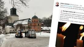 Starka reaktioner efter attackerna på Spånga kyrka