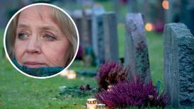 91 år gammal och frälst på en kyrkogård