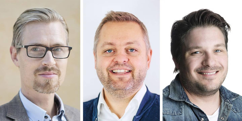 Andreas Nordlander, Clas Newman och David Nyström