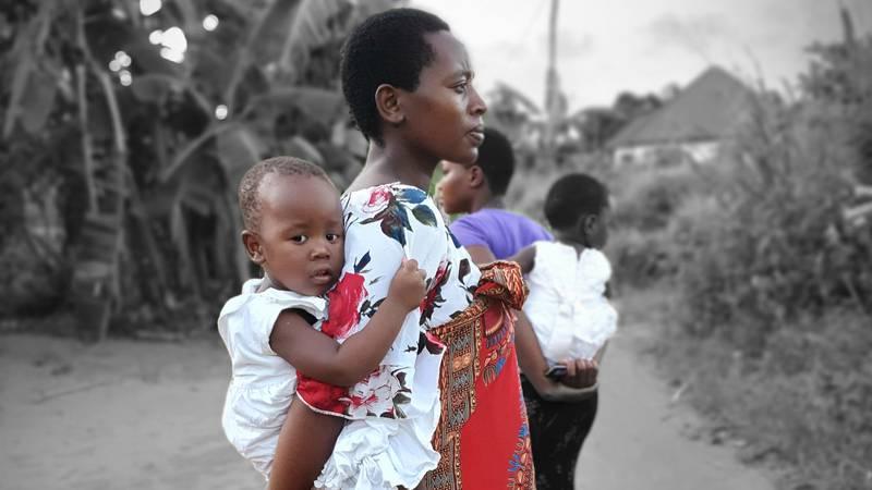Gravid kvinna, Tanzania.