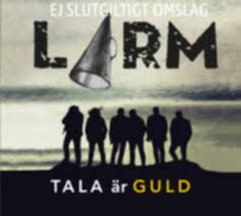 """Larm """"Tala är guld"""" Skivomslag (2020)."""