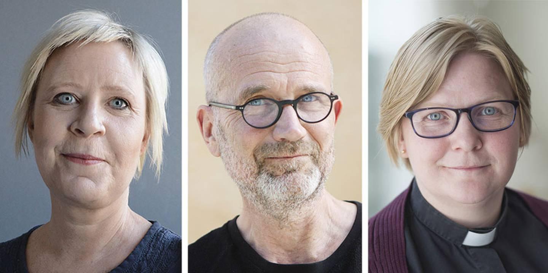 Paulina Lindgren, Pekka Mellergård och Sara Wrige.