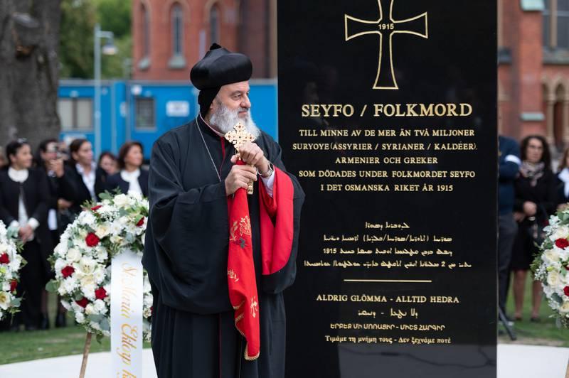 Minnesmärke över Seyfo invigt i Norrköping