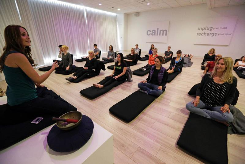 Meditationsstund i USA.