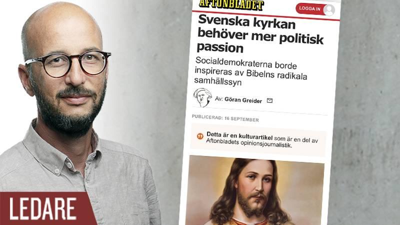 """Aftonbladets skribent Göran Greider """"Svenska kyrkan behöver mer politisk passion"""""""