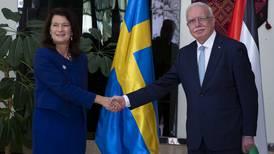 Ann Linde bjöd in Israel och Palestina till Sverige