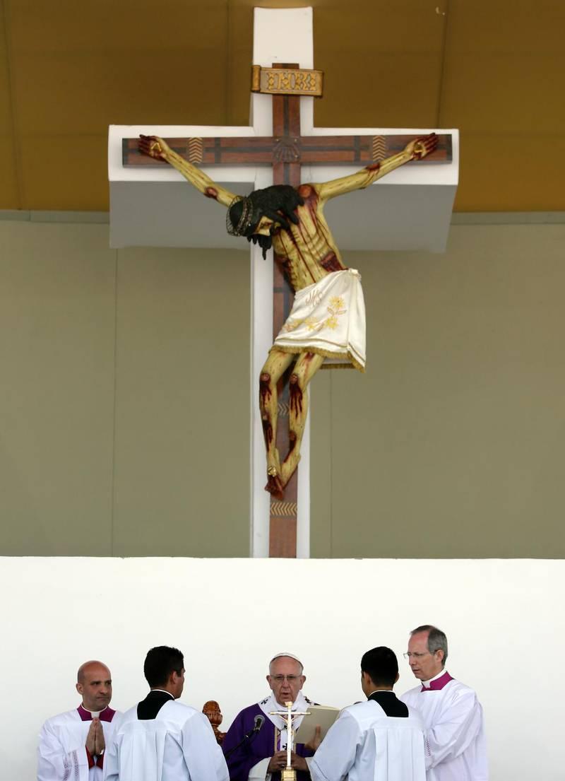 Påven besökte Mexiko i februari i år.